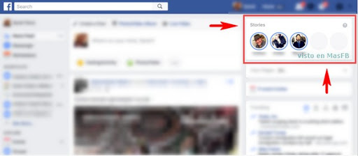 Facebook Stories en tu navegador - MasFB