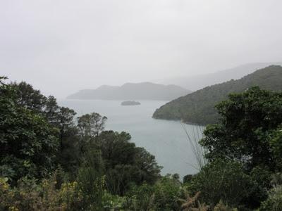 Vistas desde la Queen Charlotte Drive, Nueva Zelanda