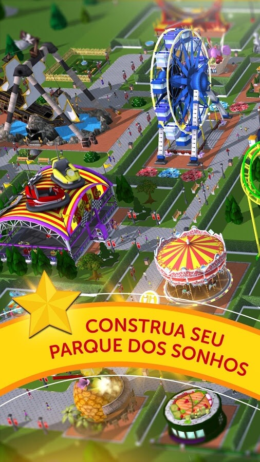 RollerCoaster Tycoon Touch v 3.12.3 apk mod COMPRAS GRÁTIS