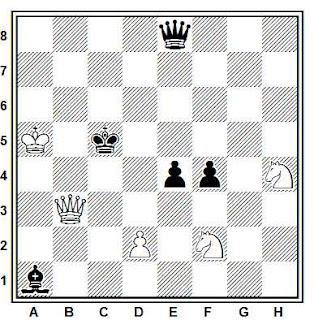 Estudio artistico de ajedrez de H. Blandford (New Statesman and Nation 1951 - Corrección 1988)