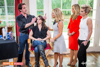 Gloss and Toss founder Billy Lowe sharing hair tips on the Hallmark Home and Family Show