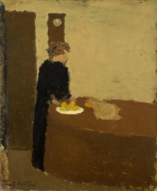 Vuillard Black Dress Woman Painting