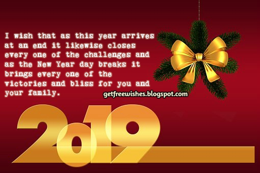 2019 Happy New Year Wishes