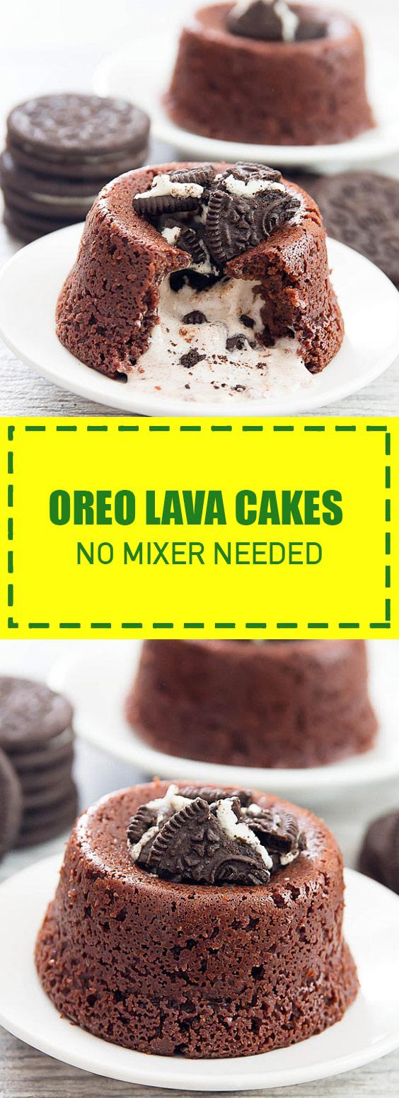 Oreo Lava Cakes