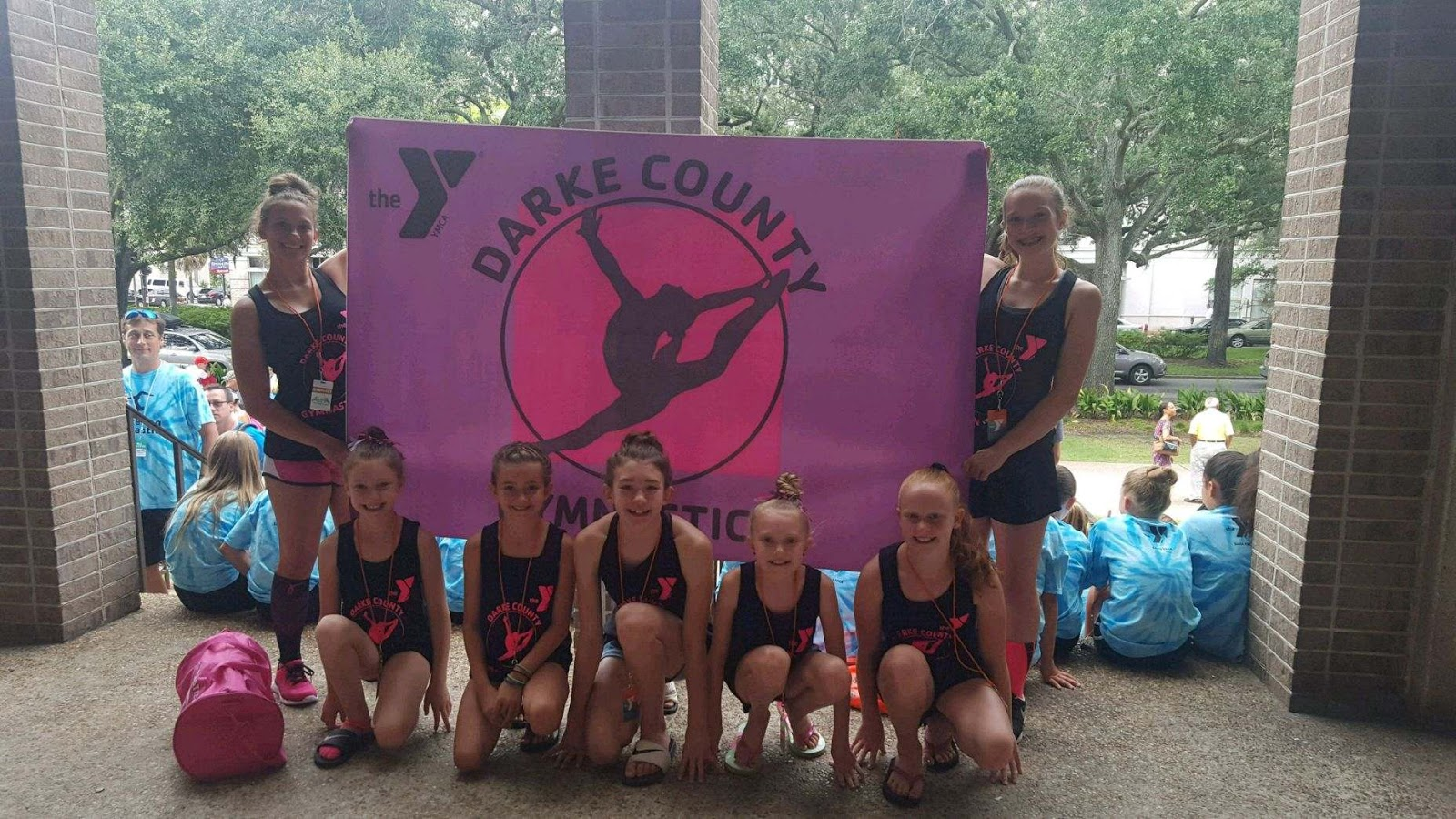 Pictured at the 2017 YMCA National Gymnastics Championships in Savannah,  GA, are YMCA of Darke County gymnastic team members Kyrie Unger, Sophie  Mills, ...