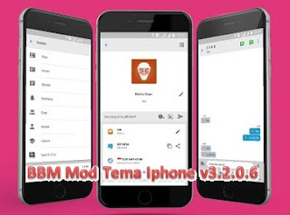 Mod BBM Tema Iphone untuk Android v3.2.0.6 .apk New Version by Richie Evan II