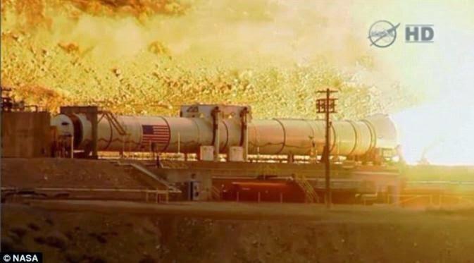 Semburan Pendorong Roket Ke Mars Milik NASA
