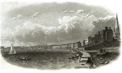 Weymouth and Melcombe Regis seafront  from Weymouth as a Watering Place  published by Simpkin & Marshall (1857)