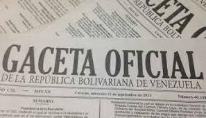 Léase SUMARIO de Gaceta oficial Nº 41.313 04 de Enero de 2018