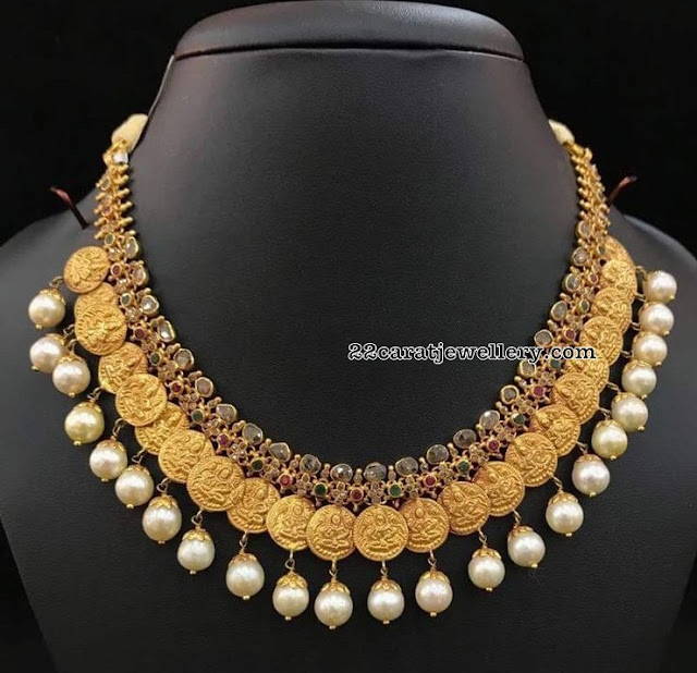 Kasu Necklace with Uncut Diamonds