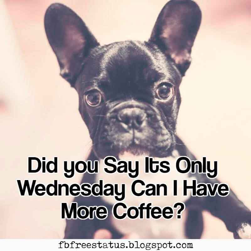 Did you Say Its Only Wednesday Can I Have More Coffee? Happy Wednesday.