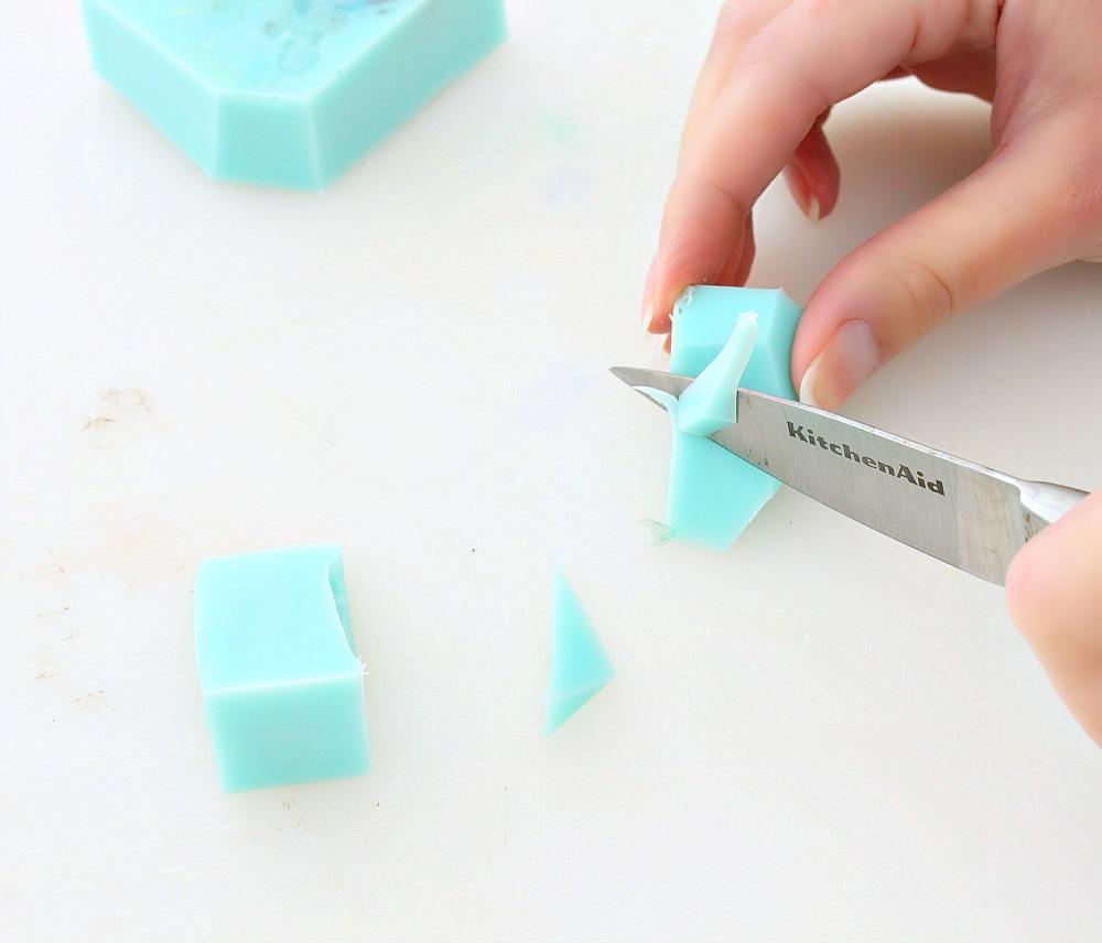 DIY Gem + Mineral Shaped Soap | Make Your Own Melt + Pour Soap Rocks