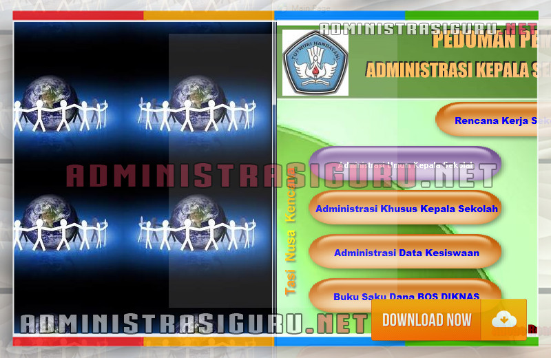 Administrasi Kepala Sekolah Dasar Lengkap - Umum dan Khusus dengan Format Excel serta Word
