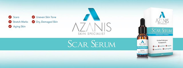 cara hilangkan parut, azanis scar serum, azanis serum parut, azanis new and improved