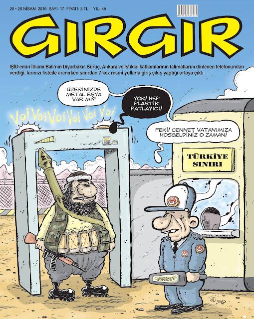Gırgır Dergisi - 20-26 Nisan 2016 Kapak Karikatürü