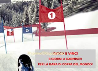 Logo Gioca e vinci 3 giorni a Garmisch per gara Coppa del Mondo di Sci