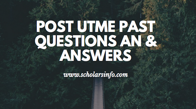 Kano University of Science & Technology, Wudil Post UTME Past Exams Questions And Answers | Download Free KUST Aptitude Test Past Questions and Answers - Cut off Mark & Post UME Screening Date