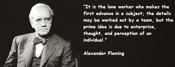 Quotes of Alexander Fleming excellent Saying