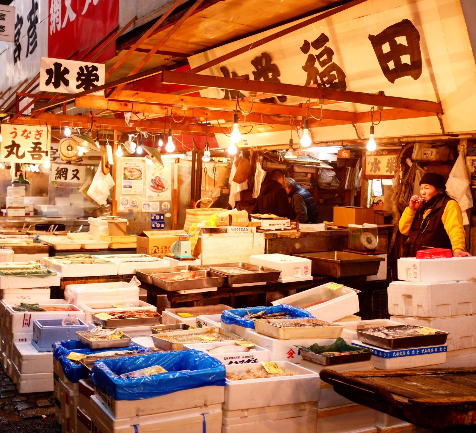 Le Chameau Bleu - Marché de Tsukiji - Fish Market Japan