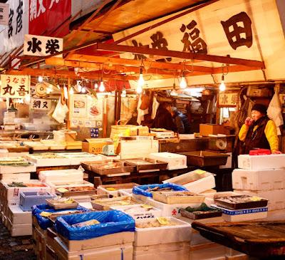 Le Chameau Bleu - Blog Voyage Japon - Marché de Tsukiji - Fish Market Japan