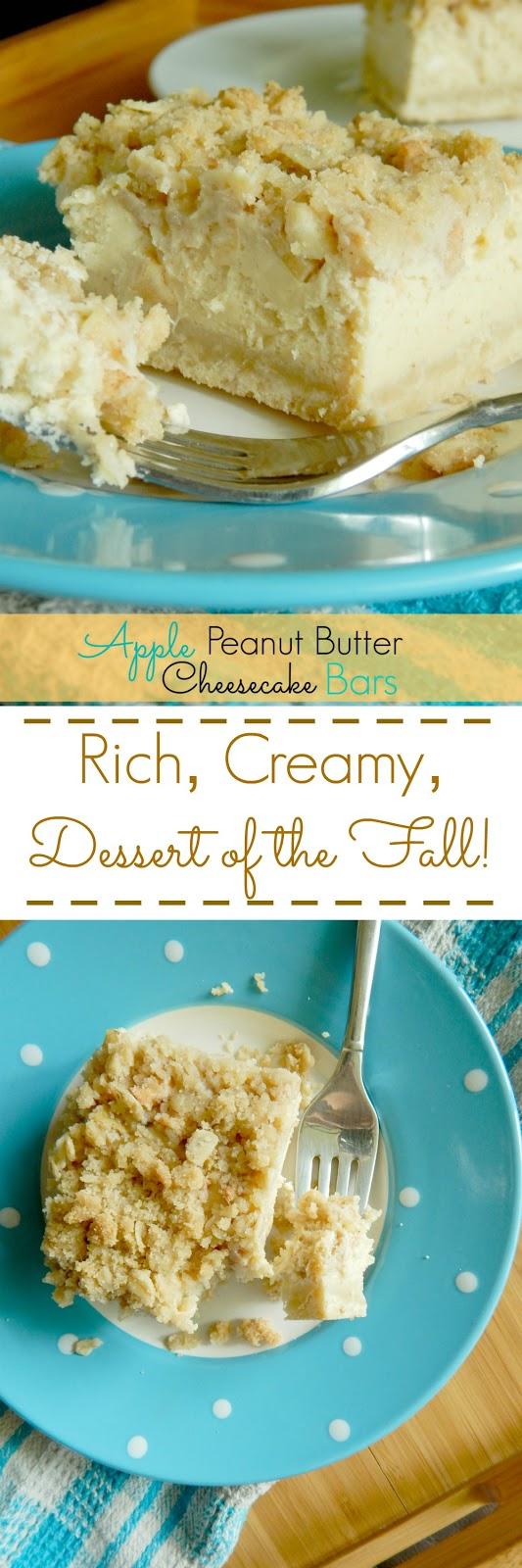 apple peanut butter cheesecake bars (sweetandsavoryfood.com)