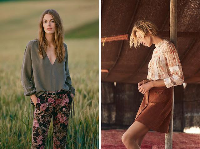 Девушки в брюках и блузке в цветочек