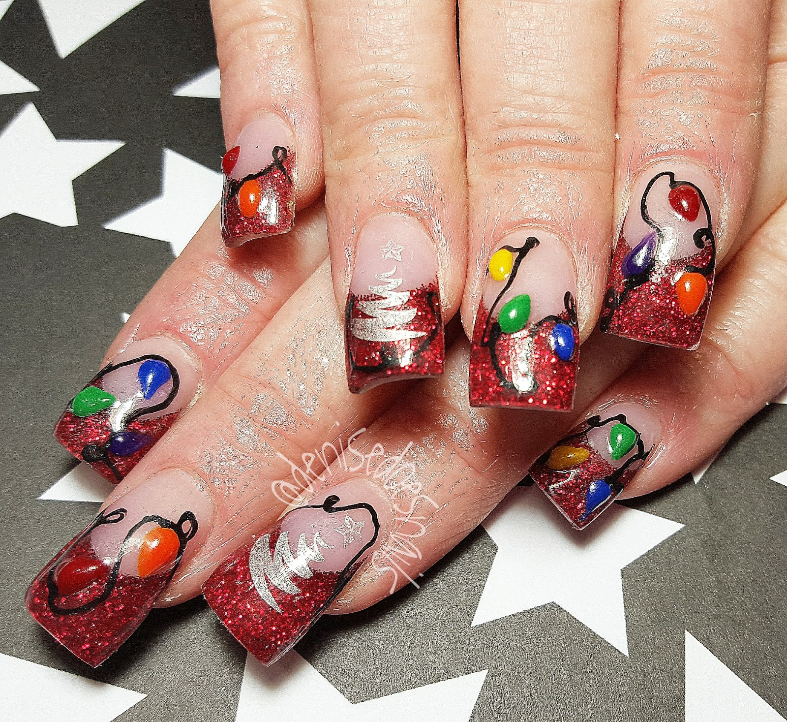 Christmas Lights Nails Pinterest: Nail Art By Denise Groves: Gettin' In The Christmas Spirit