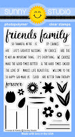 Sunny Studio Stamps: Introducing Friends & Family Photo-polymer Clear Stamps