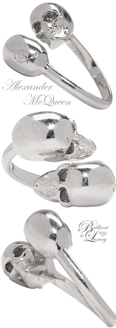 Brilliant Luxury ♦ Alexander McQueen Silver Twin Skull Ring