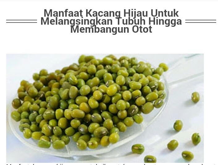 4 Khasiat Kacang Hijau Untuk Diet Cepat dan Aman Bagi Tubuh