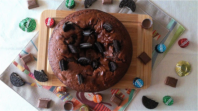 tarta brownie dulce de leche oreo galleta receta fácil horno rica fiesta cumpleaños tentación cuca