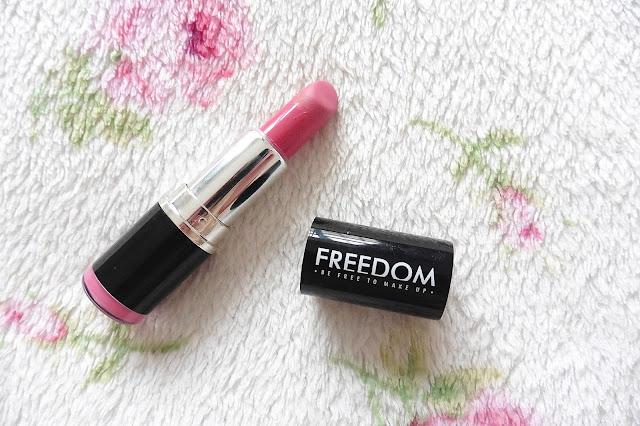 freedom makeup pink lipstick