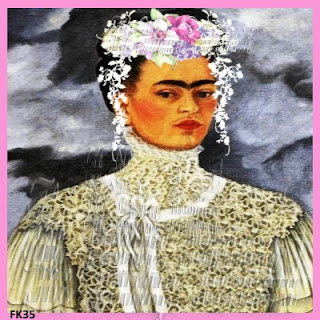 bridal fabric block frida kahlo