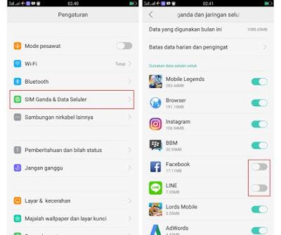Cara Nonaktifkan Penggunaan Data Aplikasi di Android