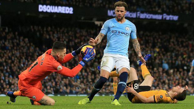 Aksi Kiper Gila Ederson Saat Man City Menang Atas Wolverhampton 2019