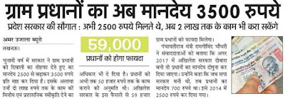 UP Gram Pradhan Salary 2018 Fund Panchayat Raj News Hindi