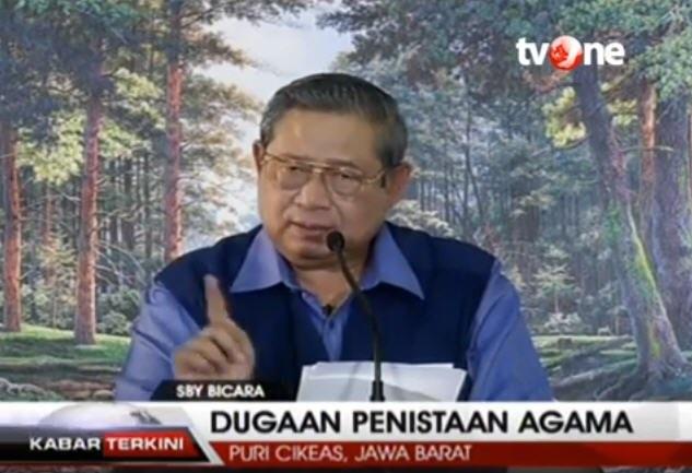 SBY bicara dugaan penistaan agama