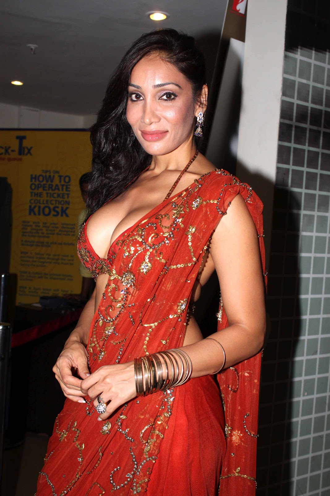 Kamar Sofia Sofia Hayat Hot In Red Blouse And Saree Hotweb