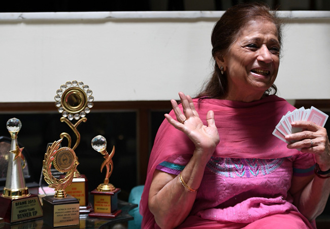 Tinuku.com Rita Choksi, Indian grandmother leads elderly charge for bridge gold
