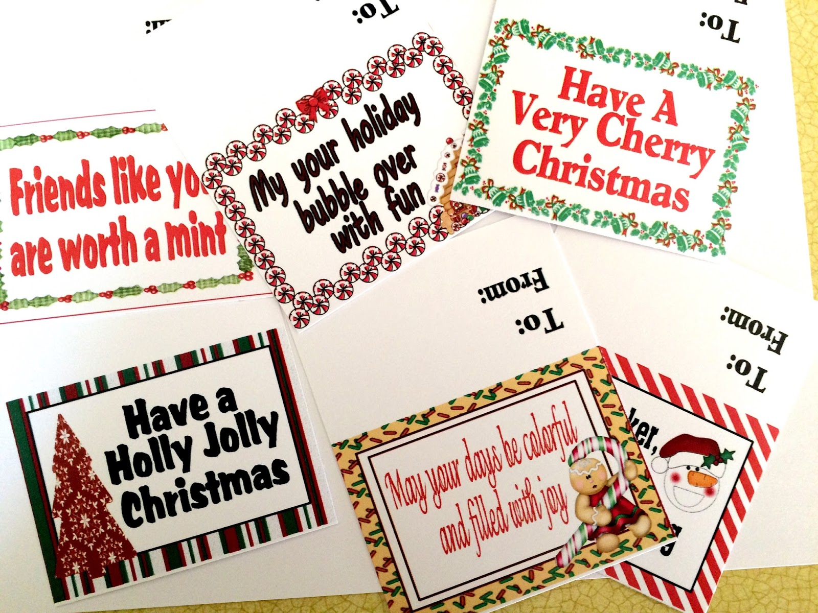 graphic regarding Christmas Bag Toppers Free Printable called Towards and In opposition to Xmas Sweet Bag Toppers Do-it-yourself Get together Mother