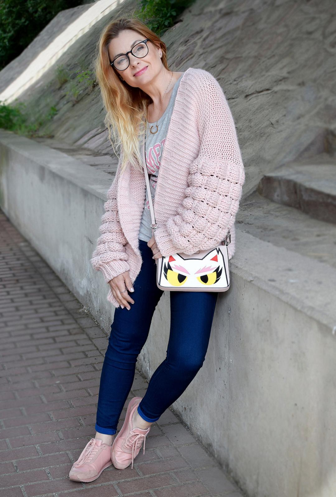 Rosa Sneaker für Frauen, Karl Lagerfeld, Handtasche