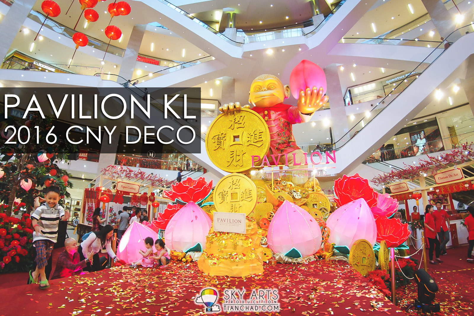 Pavilion KL 2016 Chinese New Year Decoration - Auspicious Golden Monkey