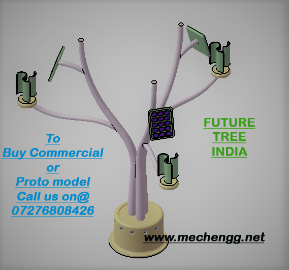 Design and Fabrication Future Tree Wind and Solar (Best Mechanical project 2017)