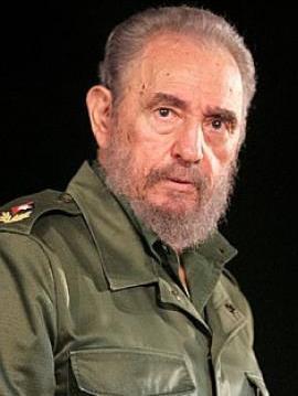 Foto del ex presidente cubano Fidel Castro