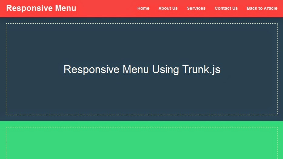 Responsive Menu Using Trunk