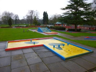 Crazy Golf course at Markeaton Park in Derby