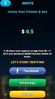 Invite friend Bulb Smash untuk mendapatkan Dollar