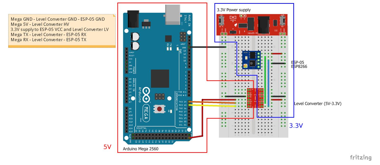 Arduino er esp mini wifi module