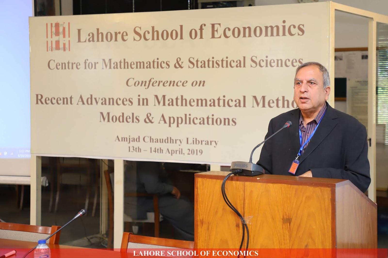 Lahore School of Economics: Fourteenth Conference on Recent Advances