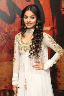 Telugu Actress Mahima Makwana Stills in White Desginer Dress at Venkatapuram Movie Logo Launch  0043.JPG